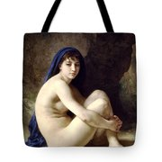 The Bather Tote Bag by William Bouguereau