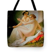 The Bathers Tote Bag by Louis Hersent
