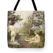 The Bathers Tote Bag by Paul Fischer