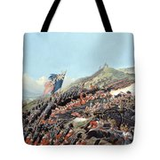 The Battle Of Alma On 20th September Tote Bag by Edmund Walker