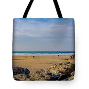 The Beach At Porthtowan Cornwall Tote Bag by Brian Roscorla