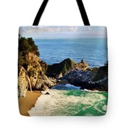 The Beauty Of Big Sur Tote Bag by Benjamin Yeager