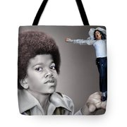 The Best of Me - Handle With Care - Michael Jacksons Tote Bag by Reggie Duffie