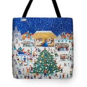The Birth Of Christ Tote Bag by Gordana Delosevic