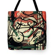 The Birth of the Horse Tote Bag by Franz Marc