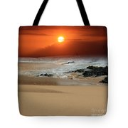 The Birth Of The Island Tote Bag by Sharon Mau