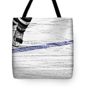 The Blue Line Tote Bag by Karol Livote