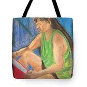 The Book Worm Tote Bag by Cori Solomon
