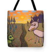 The Border Tote Bag by James W Johnson