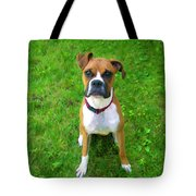 The Boxer Tote Bag by Donna Doherty
