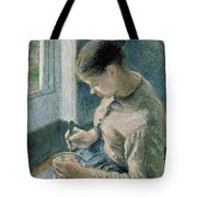 The Breakfast Tote Bag by Camille Pissarro