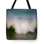 The Breaking Of A Wave ... Tote Bag by Gwyn Newcombe