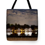 The Bright Lights Of Boathouse Row Tote Bag by Bill Cannon