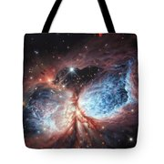 The Brush Strokes Of Star Birth Tote Bag by Lucy West