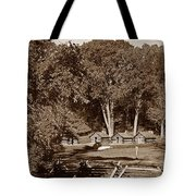 The Cabins Tote Bag by Skip Willits