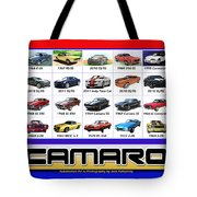 The Camaro Poster Tote Bag by Jack Pumphrey