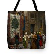 The Carpet Merchant Tote Bag by Jean Leon Gerome