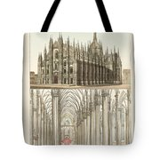 The Cathedral Of Milan Tote Bag by Splendid Art Prints