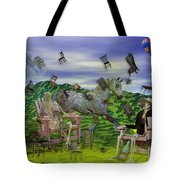 The Chairs Of Oz Tote Bag by Betsy C Knapp