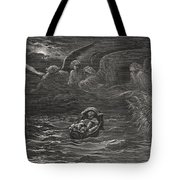The Child Moses on the Nile Tote Bag by Gustave Dore
