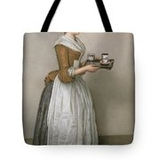 The Chocolate Girl Tote Bag by Jean-Etienne Liotard
