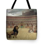 The Christian Martyrs Last Prayer Tote Bag by Jean Leon Gerome