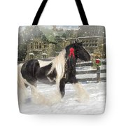 The Christmas Pony Tote Bag by Fran J Scott