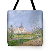 The Church At Vaudreuil Tote Bag by Gustave Loiseau