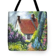 The Cottage Garden Path Tote Bag by Carol Wisniewski