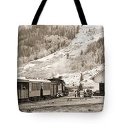 The D And S Pulls Into The Station Tote Bag by Mike McGlothlen