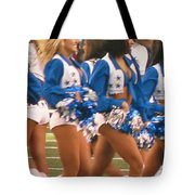 The Dallas Cowboys Cheerleaders Tote Bag by Donna Wilson