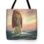 The Dawn Treader - Riding the Waves Tote Bag by Catherine Howard