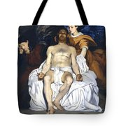The Dead Christ With Angels Tote Bag by Edouard Manet
