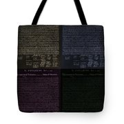 The Declaration Of Independence In Negative Colors Tote Bag by Rob Hans