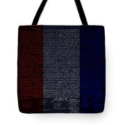 The Declaration Of Independence In Negative R W B Tote Bag by Rob Hans