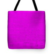 The Declaration Of Independence In Purple Tote Bag by Rob Hans