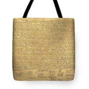 THE DECLARATION OF INDEPENDENCE in SEPIA Tote Bag by ROB HANS