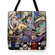 The Dentist Is In Root Canal Tote Bag by Anthony Falbo