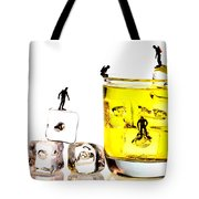 The diving little people on food Tote Bag by Paul Ge
