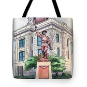 The Doughboy Statue Tote Bag by Katherine Miller