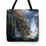 The Dragon Land Tote Bag by Kristina Vardazaryan