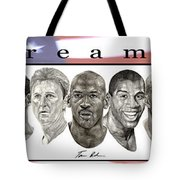 the Dream Team Tote Bag by Tamir Barkan