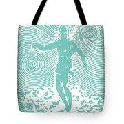 The Duke in Aqua Tote Bag by Stephanie Troxell