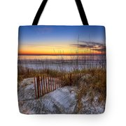 The Dunes at Sunset Tote Bag by Debra and Dave Vanderlaan