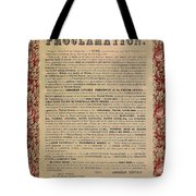 The Emancipation Proclamation Tote Bag by American School