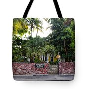 The Ernest Hemingway House - Key West Tote Bag by Bill Cannon