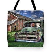 The Farm Truck Tote Bag by Lori Deiter