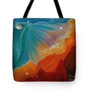 The Final Frontier Tote Bag by Barbara McMahon
