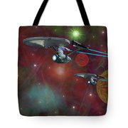 The Final Frontier Tote Bag by Michael Rucker