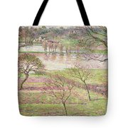 The Flood At Eragny Tote Bag by Camille Pissarro